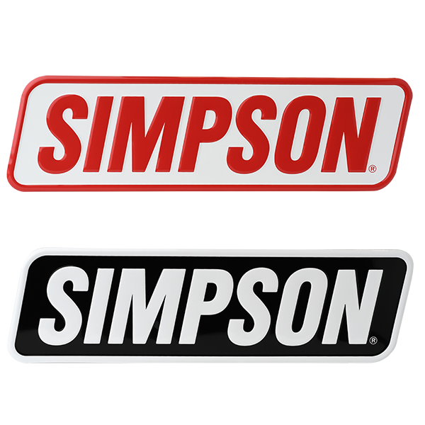 Simpson Racing Embossed Aluminum Simpson Sign